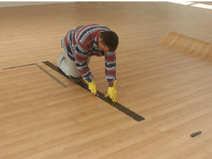 laying linoleum