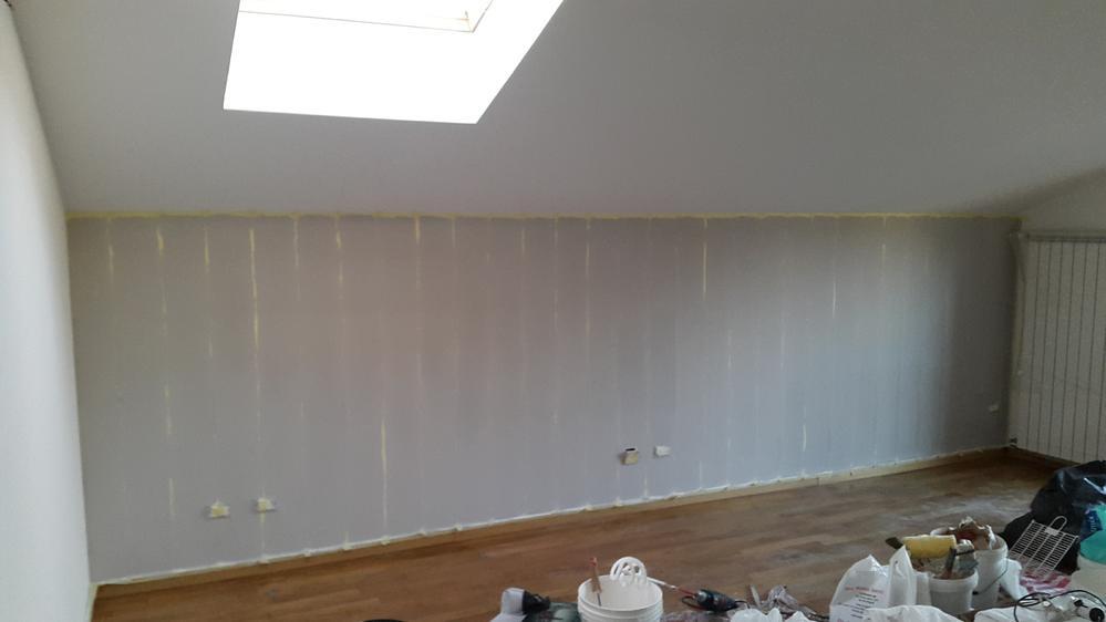 Pareti A Strisce Verticali : Parete a righe come realizzare un decoro a parete imbianchino