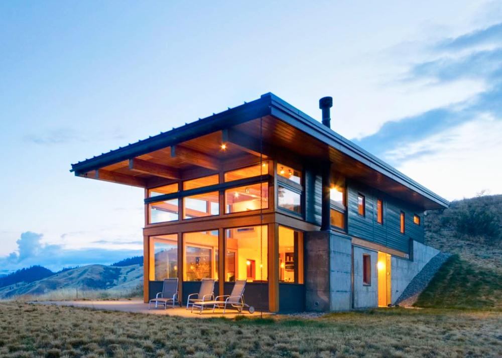 passive solar heating house