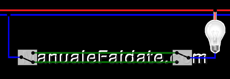 Schema Elettrico Deviatore Due Punti Luce : Schema collegamento interruttore deviatore